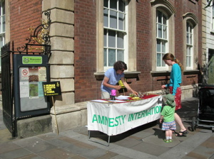 China campaign stall outside Guildhall